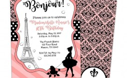 002 Beautiful Pari Birthday Invitation Template Free Concept
