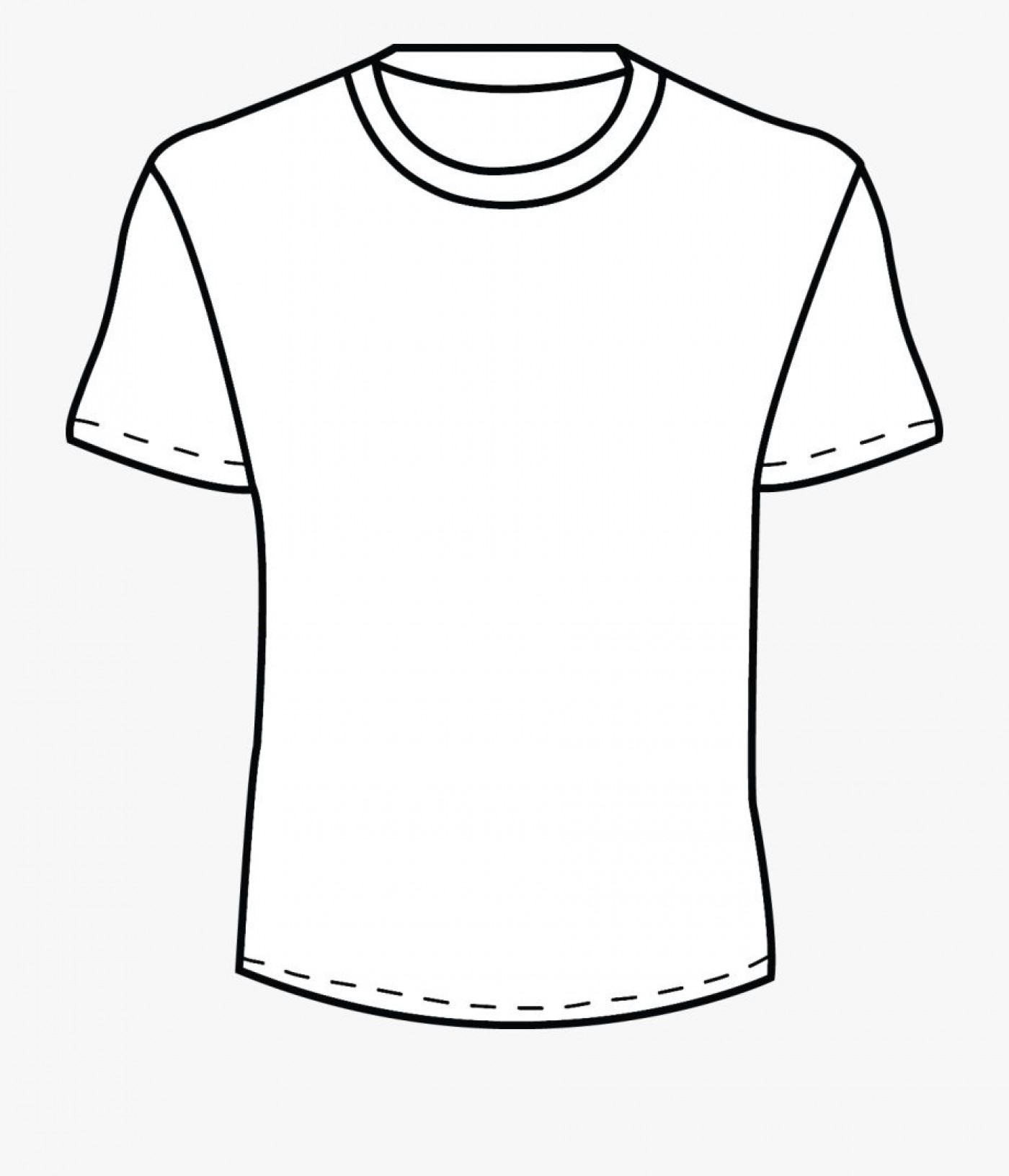 002 Beautiful Plain T Shirt Template Concept  Blank Front And Back1400