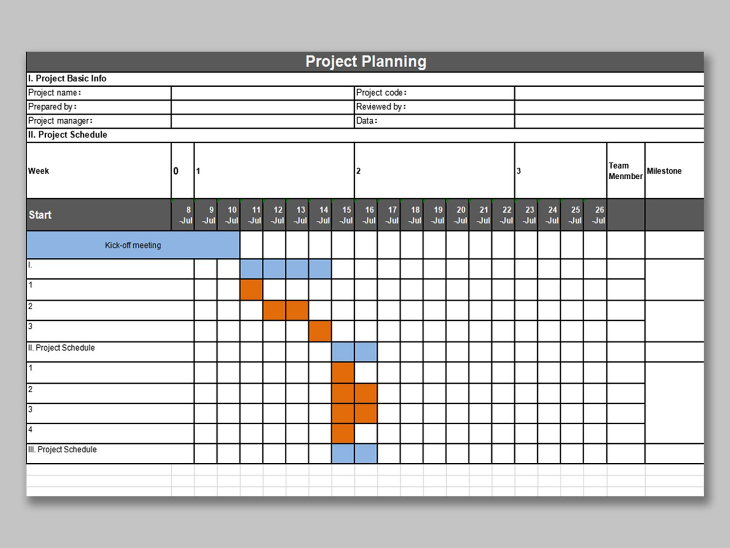 002 Beautiful Project Management Template Free Download Excel Photo  Tracking DashboardFull