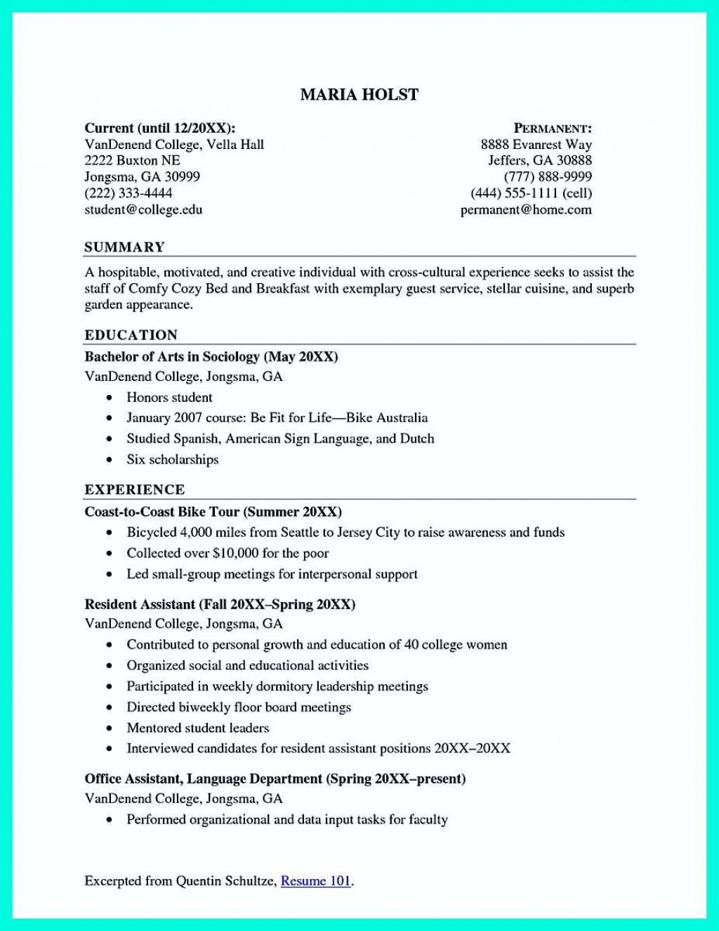 002 Beautiful Recent College Graduate Resume Template Image  WordLarge