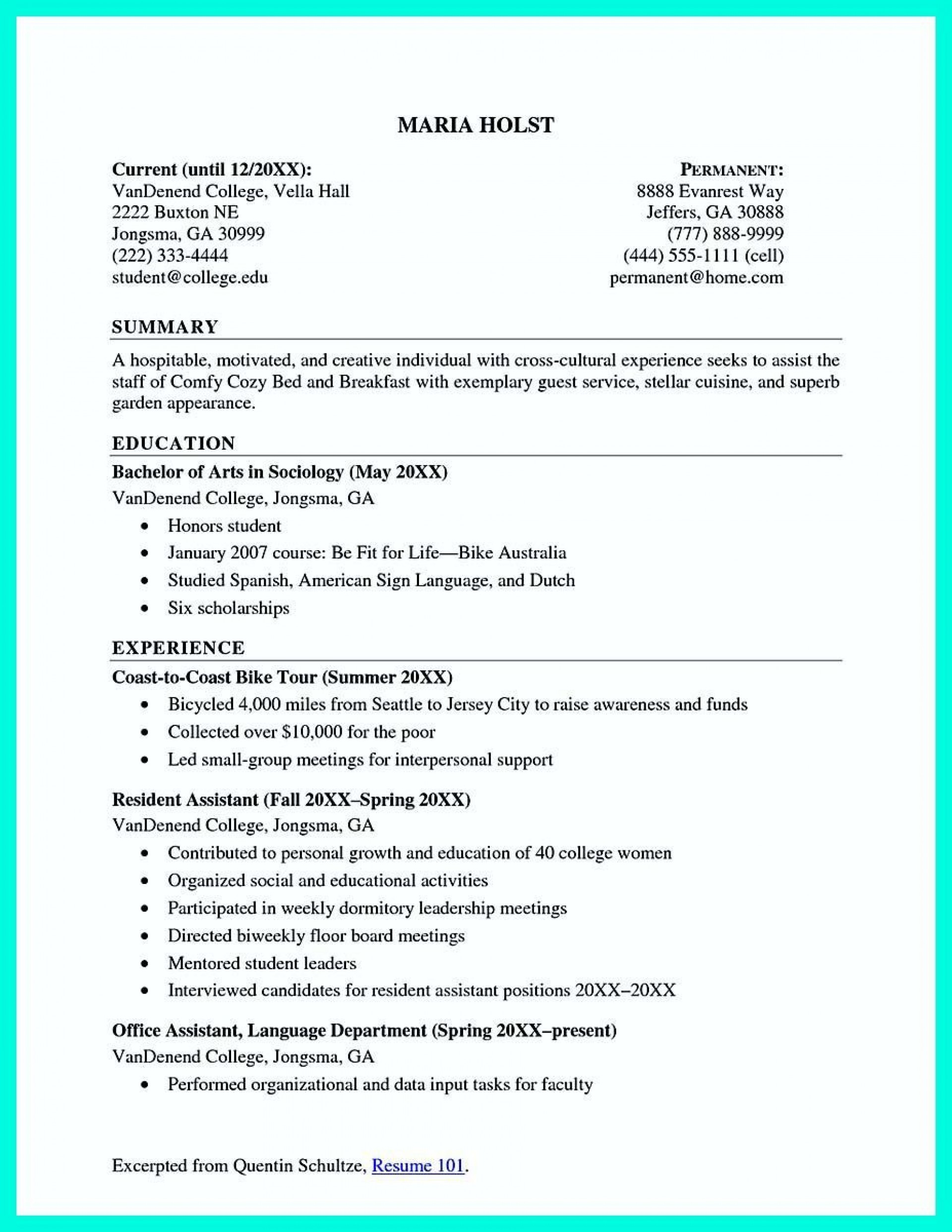 002 Beautiful Recent College Graduate Resume Template Image  Word1920