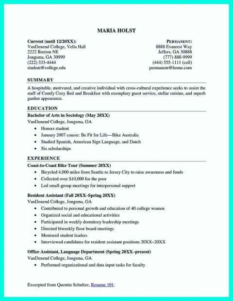 002 Beautiful Recent College Graduate Resume Template Image  Word480