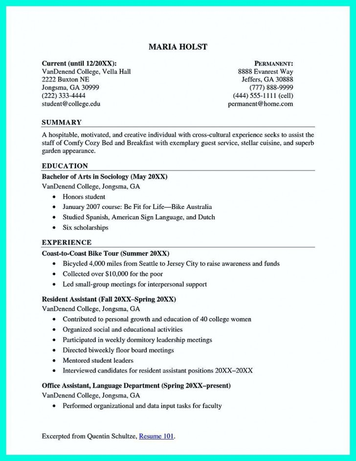 002 Beautiful Recent College Graduate Resume Template Image  Word728