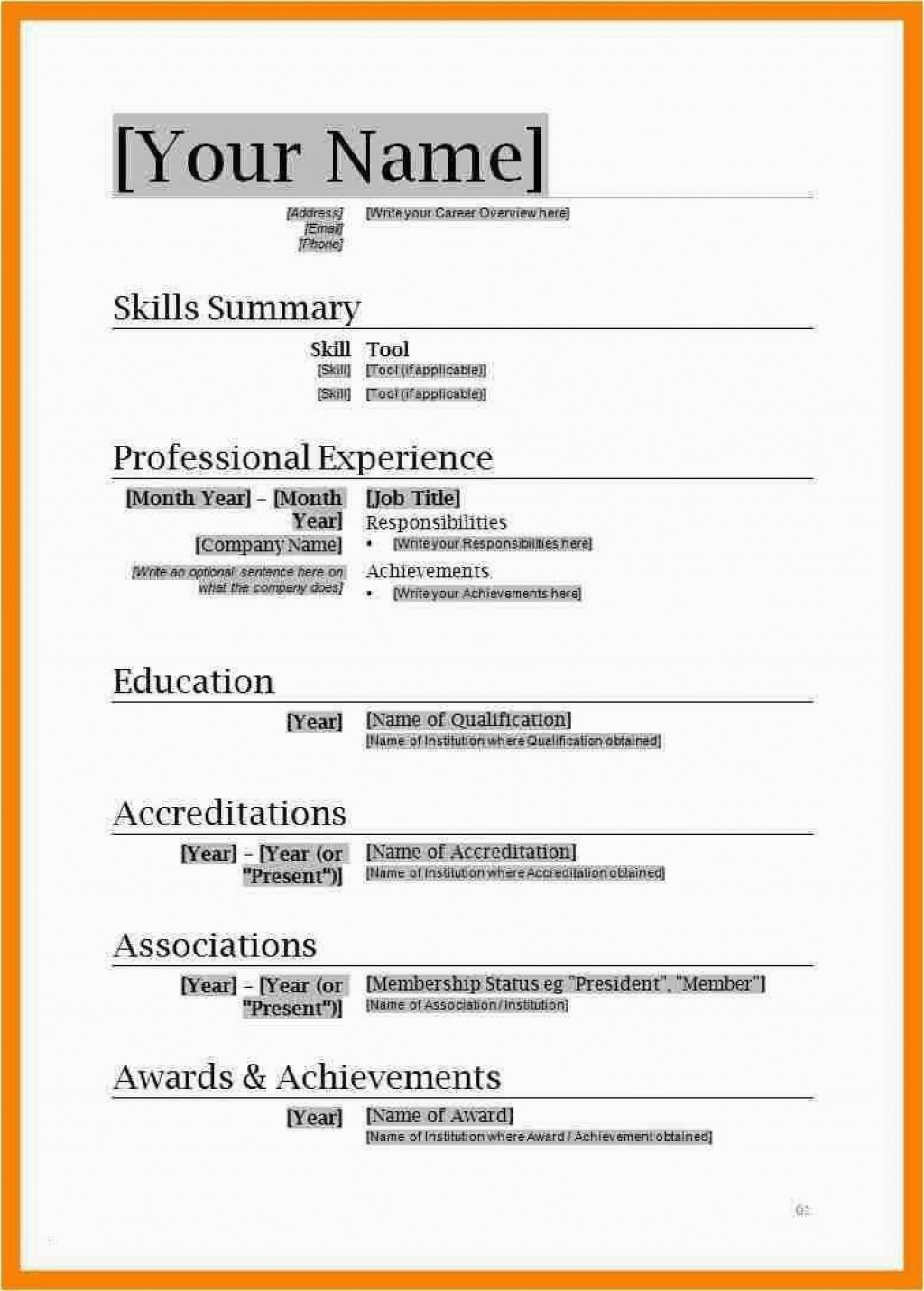 002 Beautiful Simple Resume Template Download In M Word Image Large