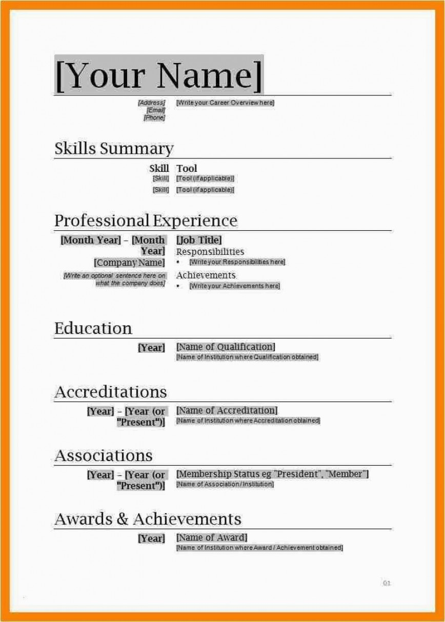 002 Beautiful Simple Resume Template Download In M Word Image