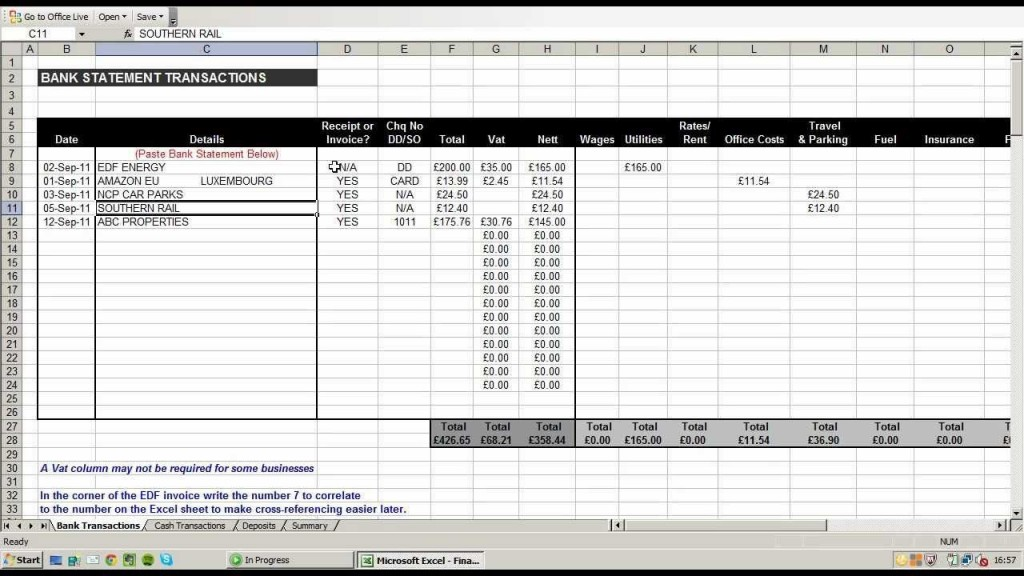 002 Beautiful Small Busines Expense Report Template Excel Concept Large
