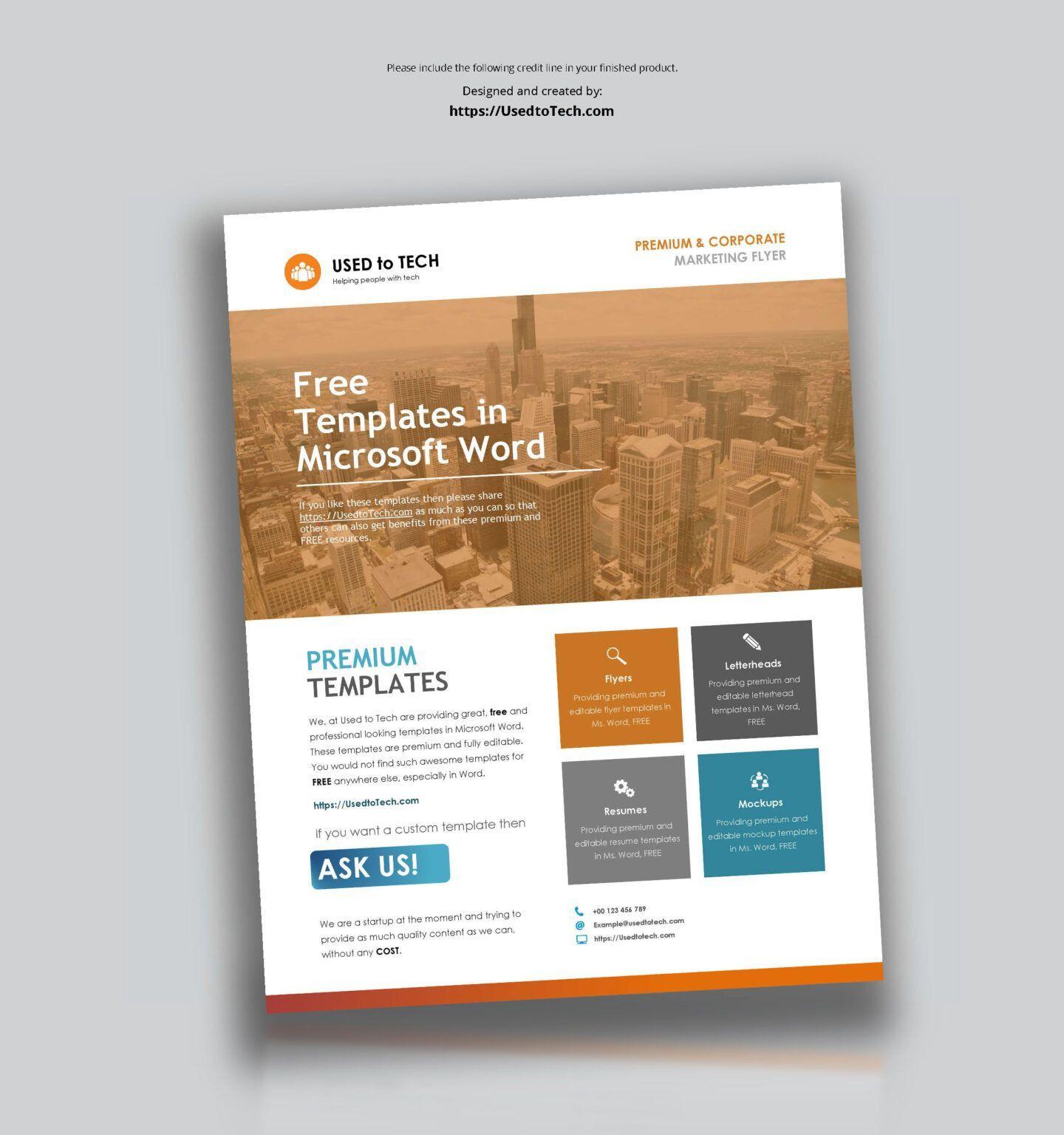 002 Beautiful Template Brochure For Microsoft Word Free Design  Flyer Bowling Tri Fold 2010Full