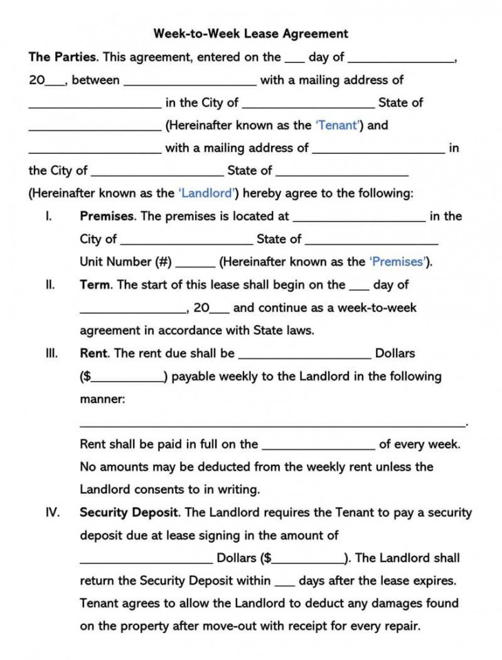 002 Beautiful Template For Renter Lease Agreement Photo  Free Apartment728