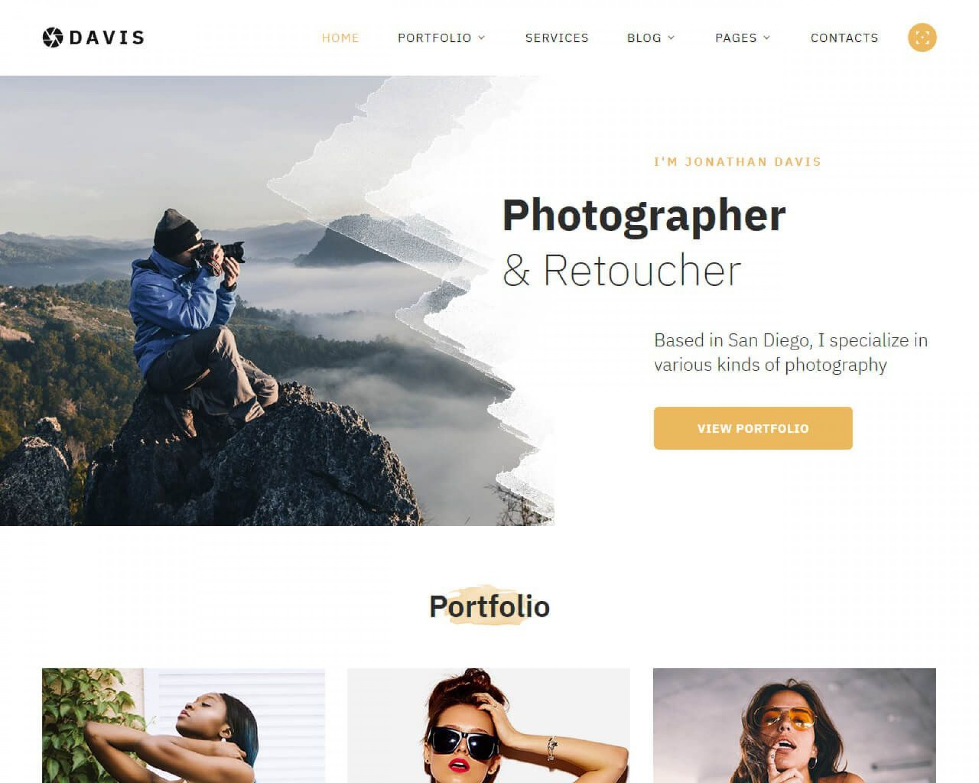 002 Beautiful Web Template For Photographer Example  Photography1920