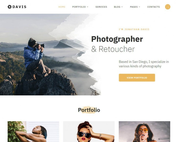 002 Beautiful Web Template For Photographer Example  Photography728