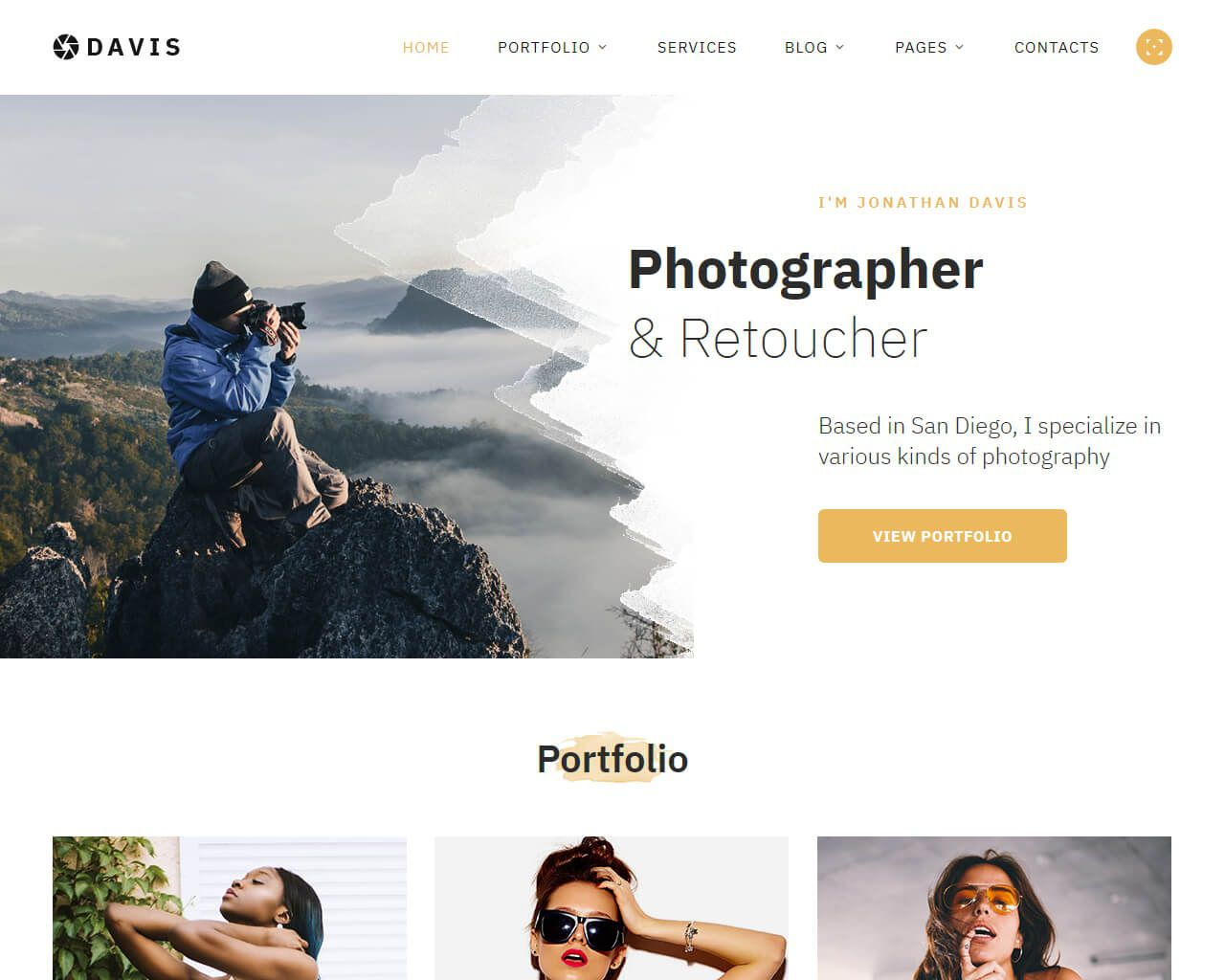 002 Beautiful Web Template For Photographer Example  PhotographyFull