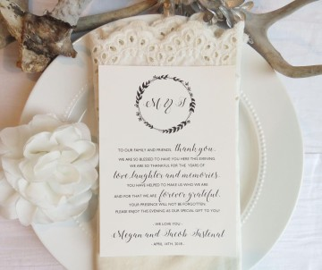 002 Beautiful Wedding Thank You Card Template Picture  Photoshop Word Etsy360