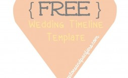 002 Beautiful Wedding Timeline Template Free Download Photo