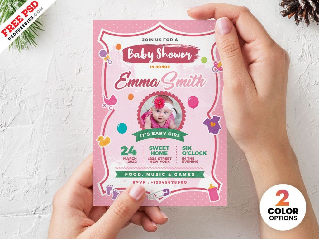002 Best Baby Shower Invitation Card Template Free Download Idea  IndianLarge