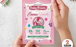 002 Best Baby Shower Invitation Card Template Free Download Idea  Indian