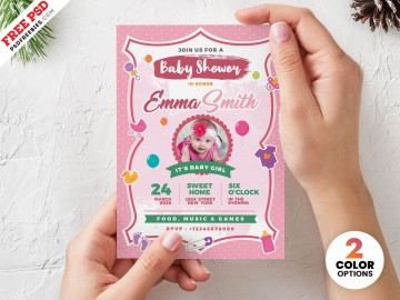 002 Best Baby Shower Invitation Card Template Free Download Idea  Indian360