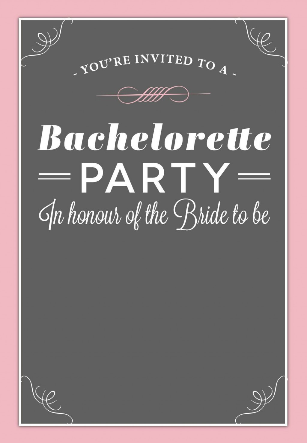 002 Best Bachelorette Party Invitation Template Word Free Design Large