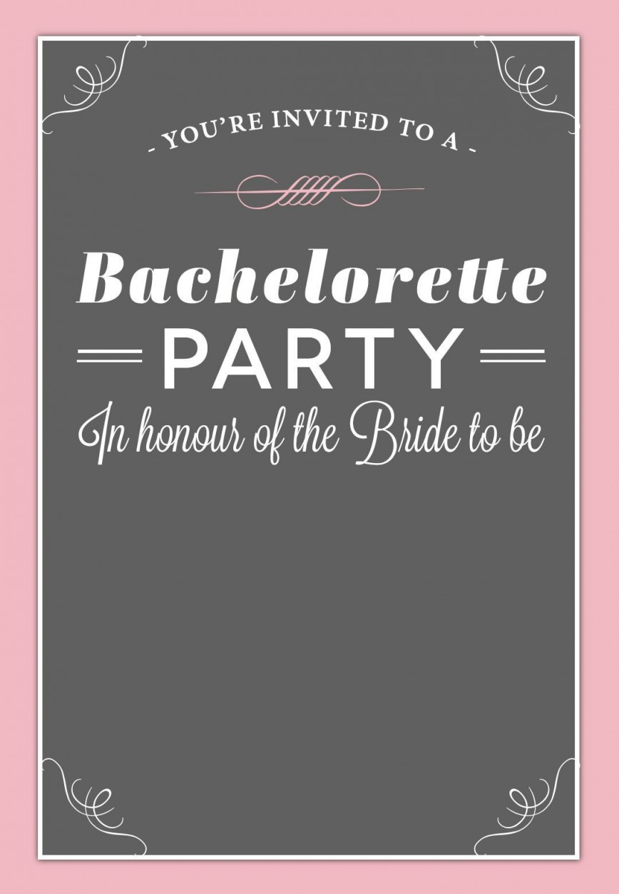002 Best Bachelorette Party Invitation Template Word Free Design