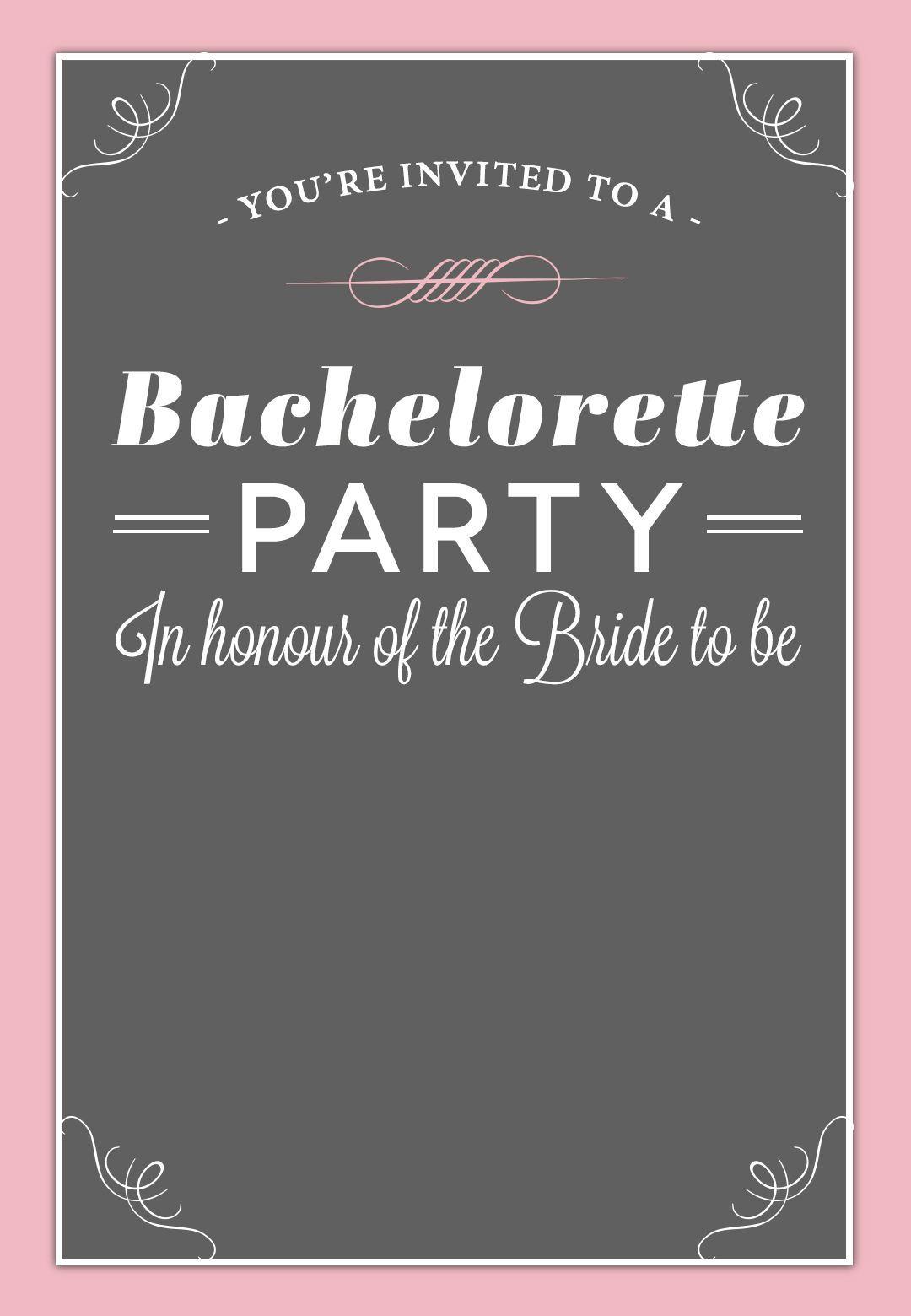 002 Best Bachelorette Party Invitation Template Word Free Design Full