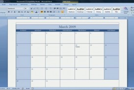 002 Best Calendar Template For Word 2007 Example