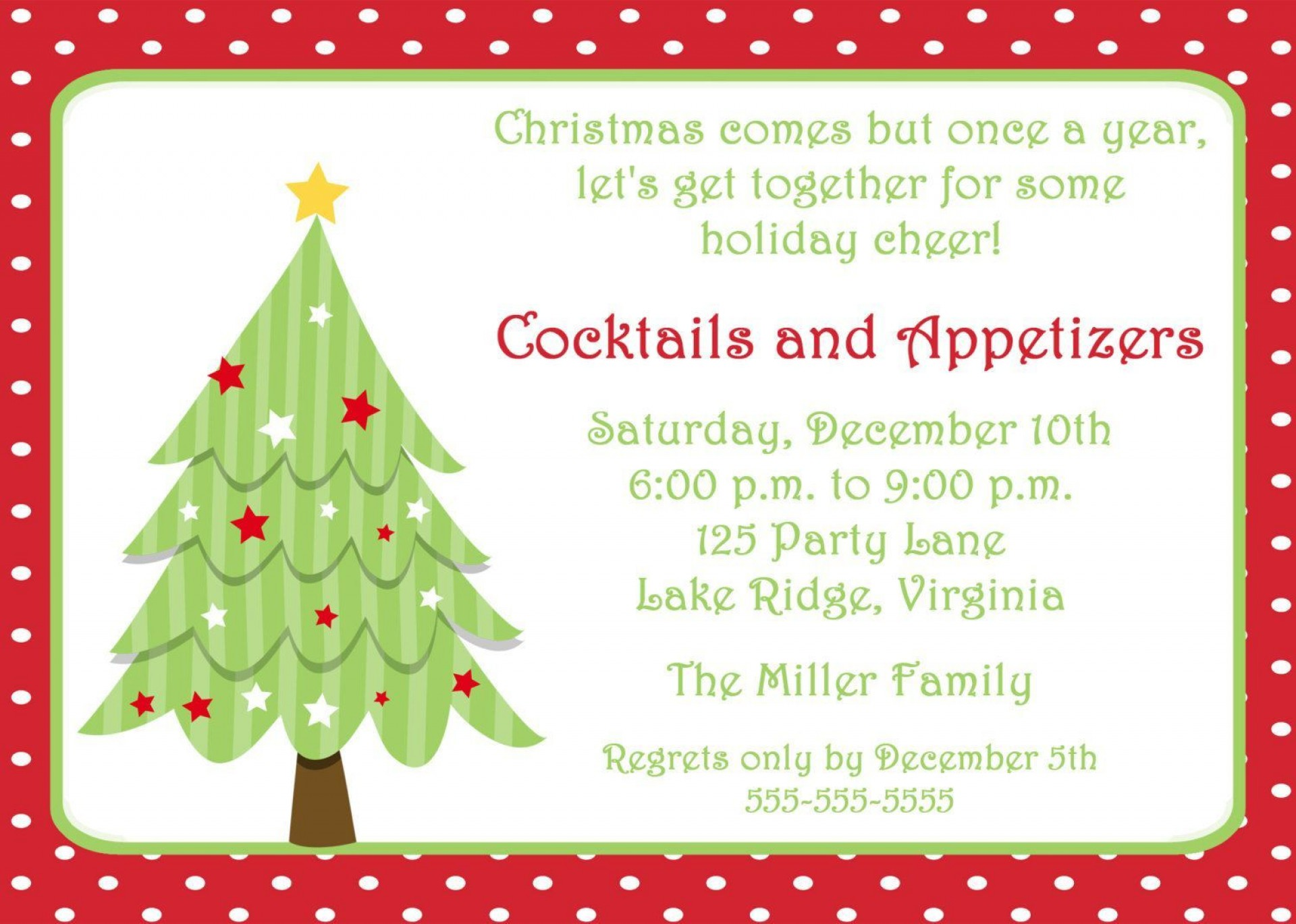 002 Best Christma Party Invite Template Word Image  Holiday Free Invitation Wording Example1920