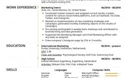 002 Best College Internship Resume Template Photo  Student Job For Download