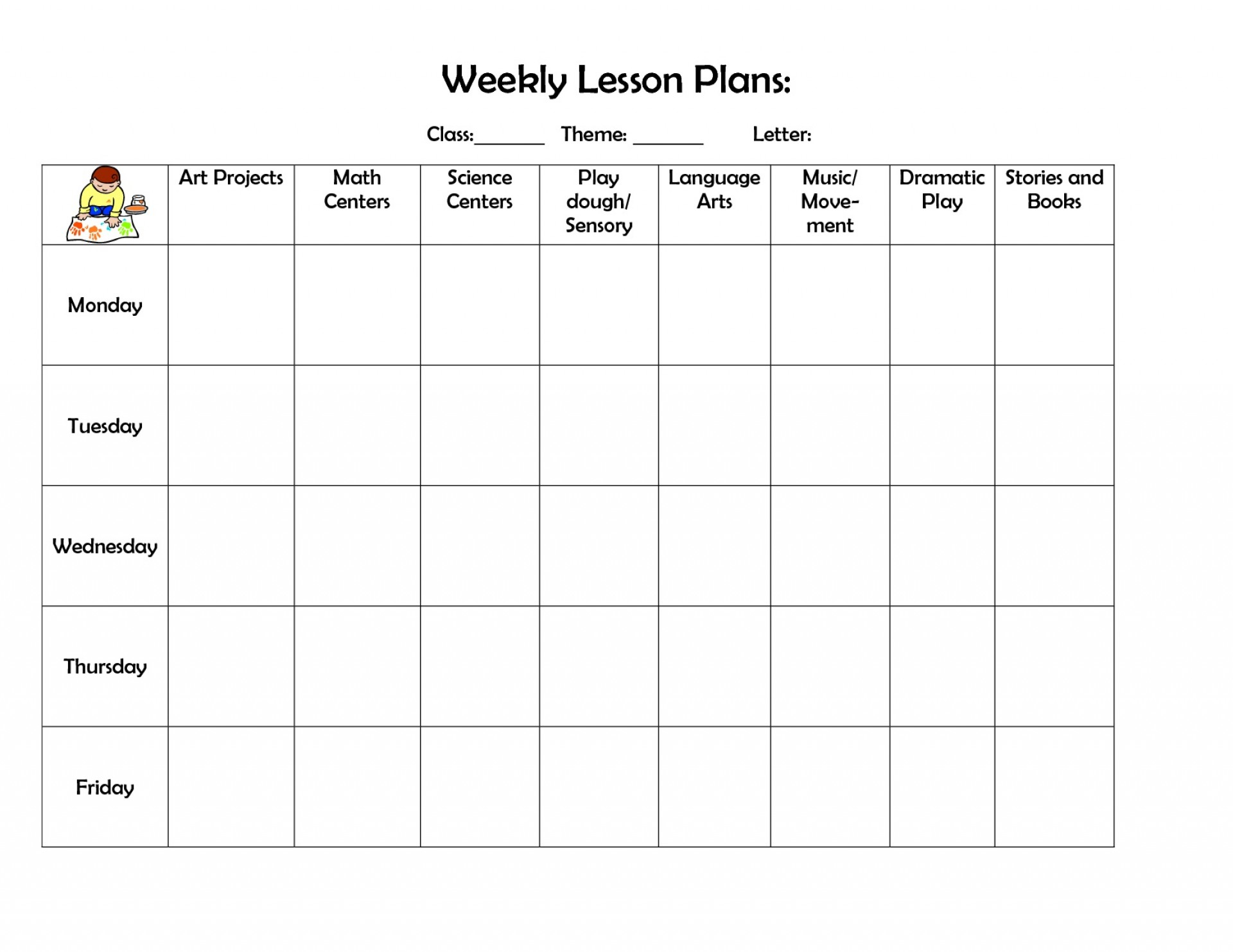002 Best Daycare Lesson Plan Template Picture  Sample Child Care Curriculum Planning1920