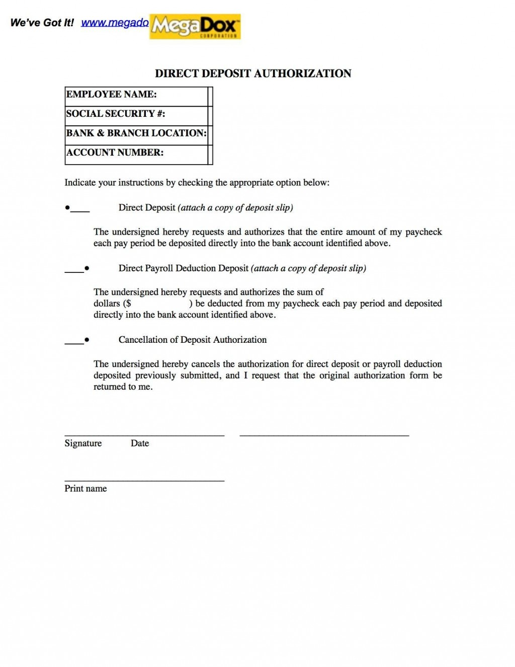 002 Best Direct Deposit Cancellation Form Template Sample  Authorization Canada Word PayrollLarge