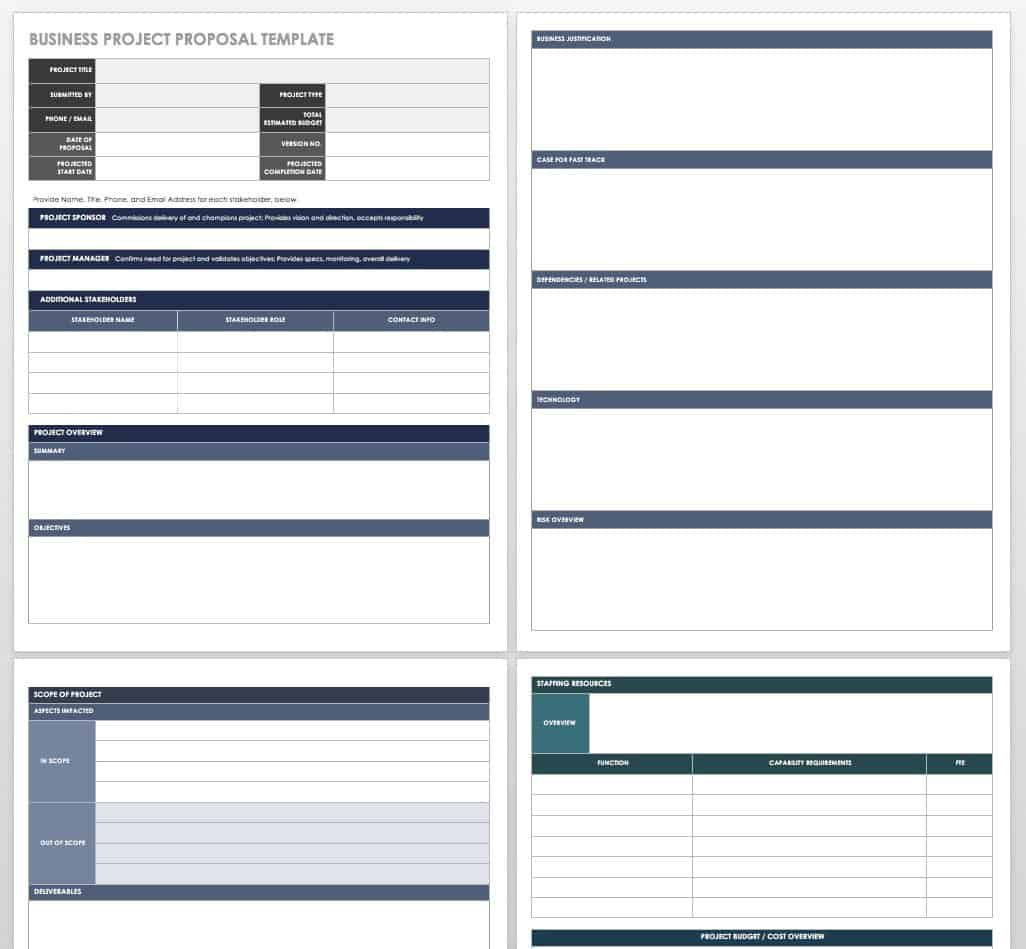 002 Best Free Project Proposal Template Picture  Document Ppt PdfFull