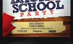 002 Best Free School Disco Flyer Template Sample  Templates Poster