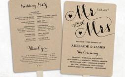 002 Best Free Wedding Program Fan Template Idea  Templates Printable Paddle Word