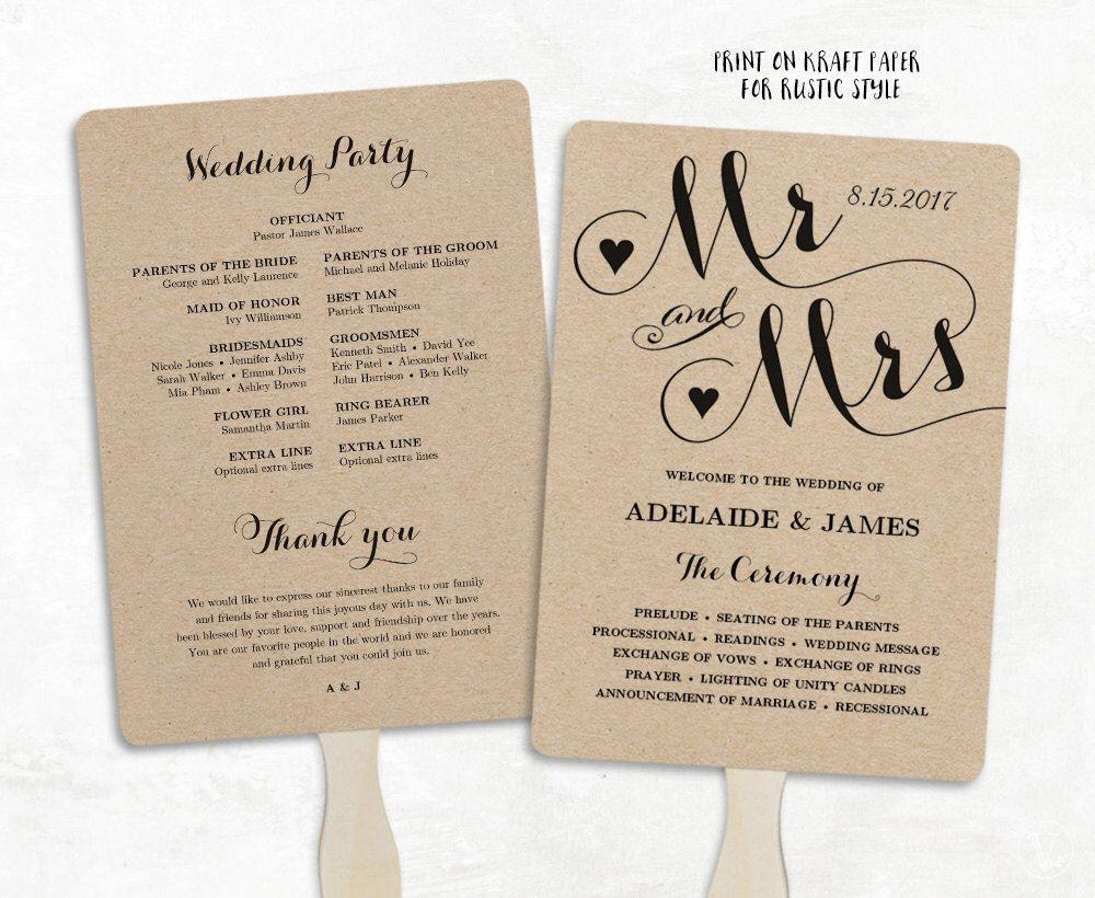 002 Best Free Wedding Program Fan Template Idea  Templates Printable Paddle WordFull