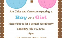 002 Best Gender Reveal Invitation Template High Resolution  Templates Party Free Printable Maker