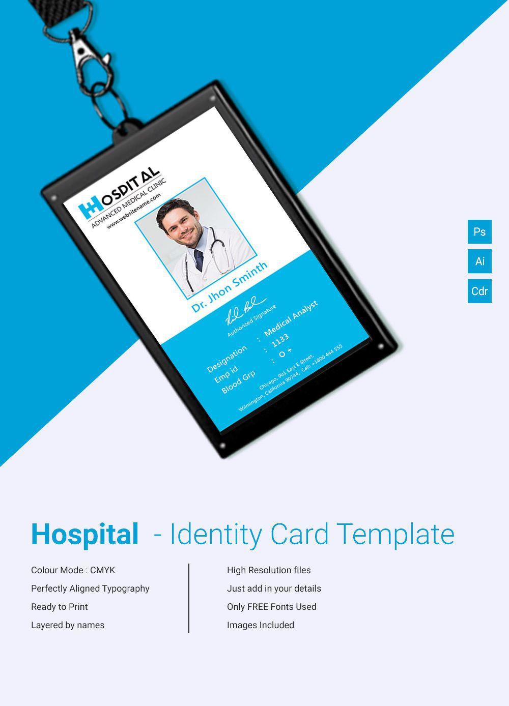 002 Best Id Card Template Free Sample  Download Pdf DesignFull
