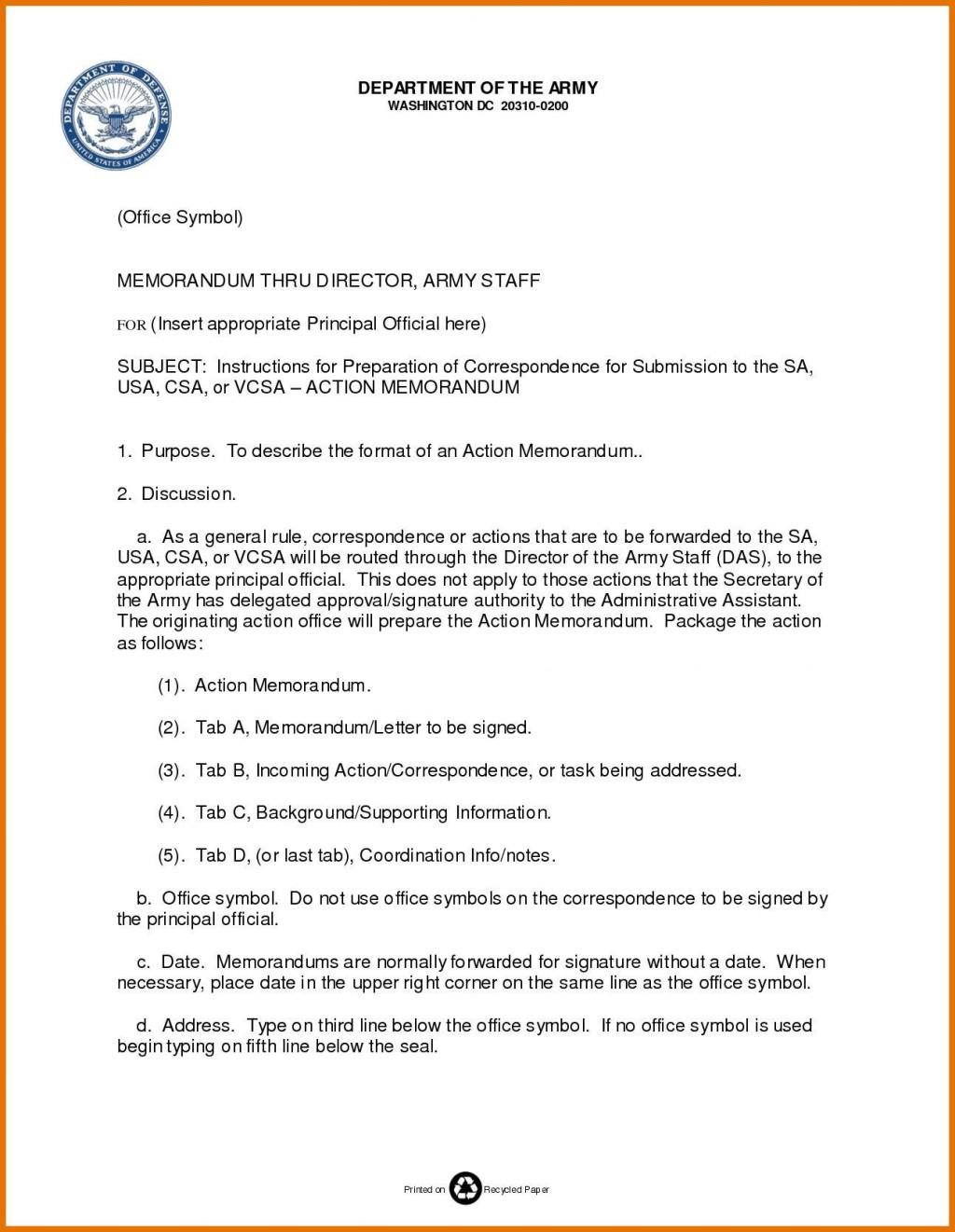 002 Best Microsoft Word Army Memorandum Template High Def Large