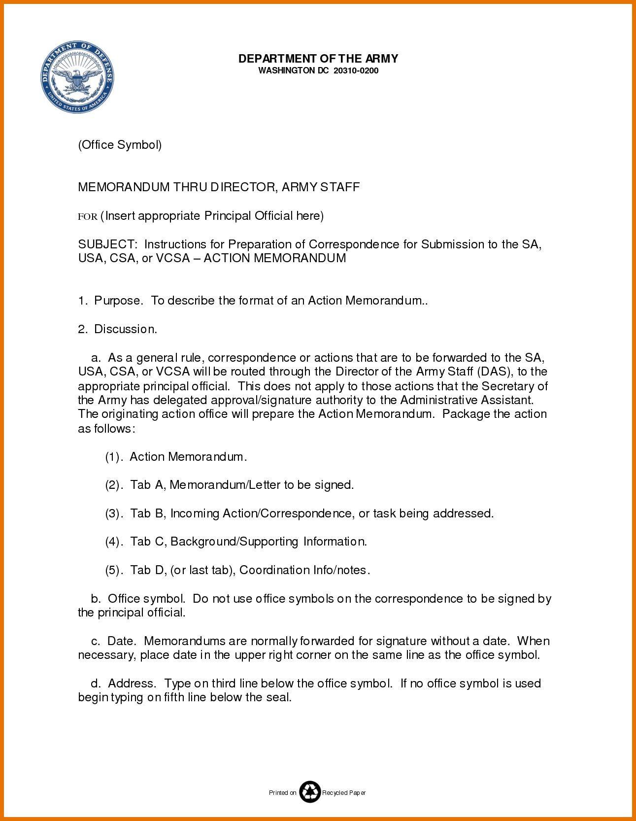002 Best Microsoft Word Army Memorandum Template High Def Full