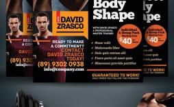 002 Best Personal Trainer Flyer Template Sample  Word Psd