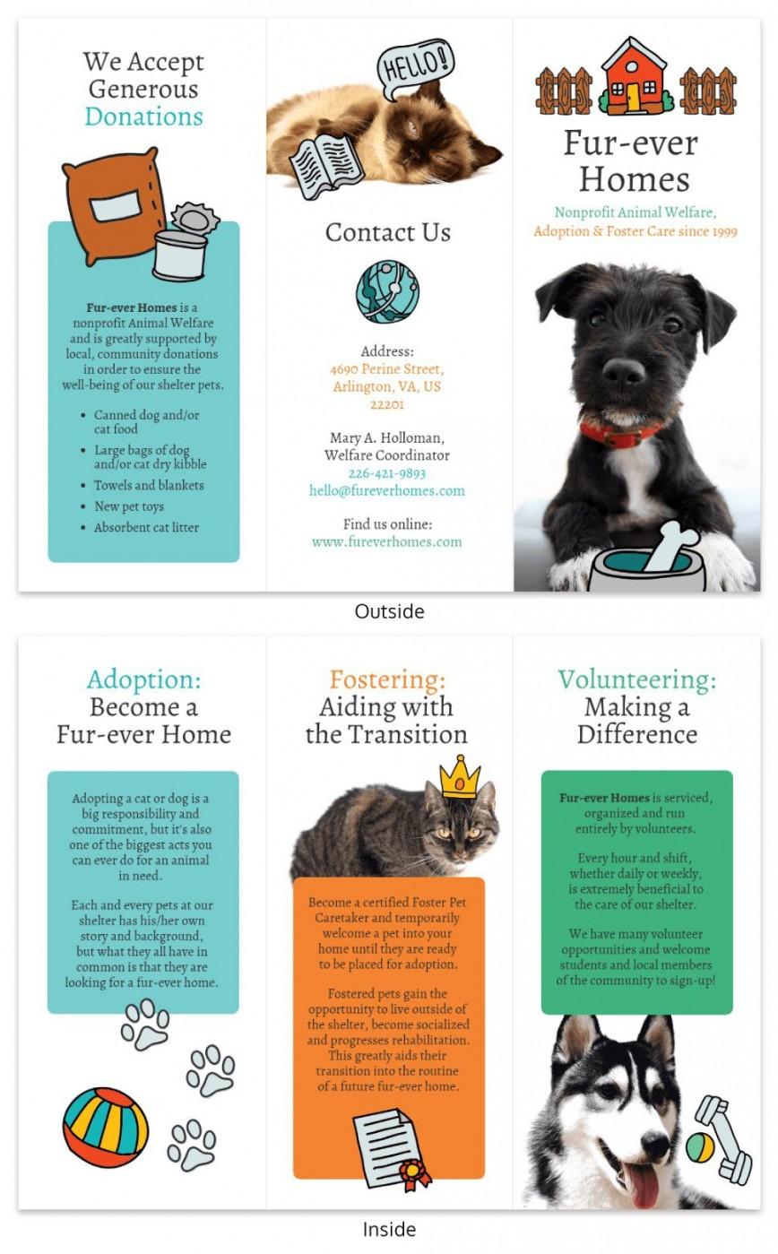 002 Best Pet Adoption Flyer Template Sample  Event Free