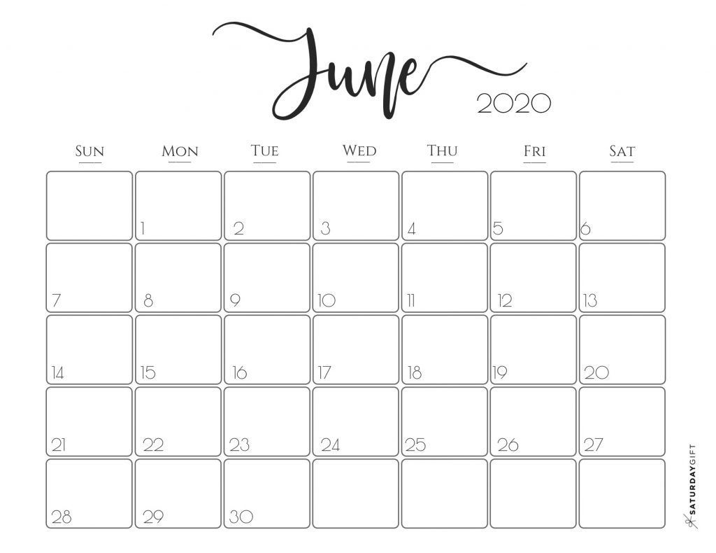 002 Best Printable Calendar Template June 2020 Inspiration  FreeFull