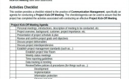 002 Best Project Kickoff Meeting Template Doc Photo