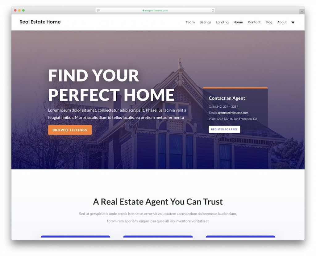 002 Best Real Estate Website Template Idea  Templates Free Download Bootstrap 4 Listing WordpresLarge