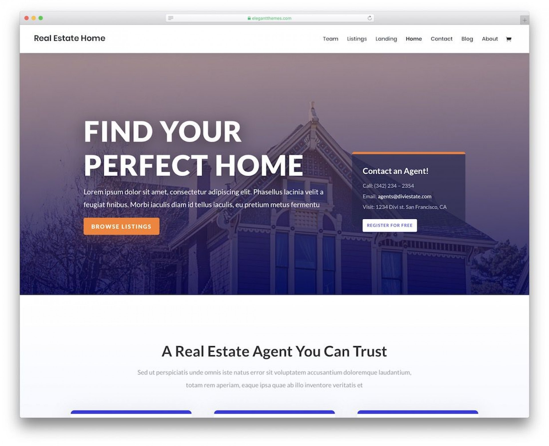 002 Best Real Estate Website Template Idea  Templates Free Download Bootstrap 4 Listing Wordpres1920
