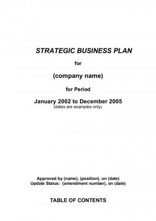002 Best Strategic Busines Plan Template High Definition  Development Word Sample320