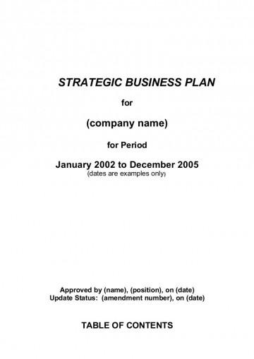002 Best Strategic Busines Plan Template High Definition  Development Word Sample360