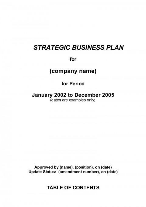 002 Best Strategic Busines Plan Template High Definition  Development Word Sample480