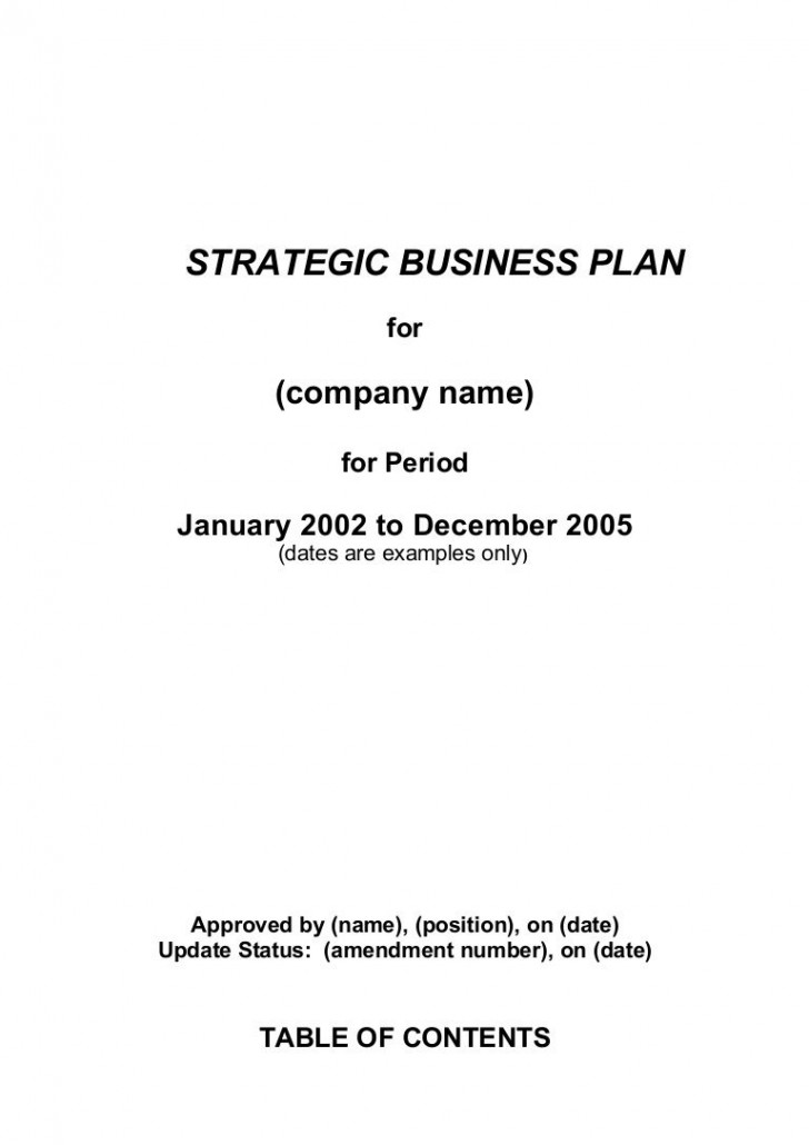 002 Best Strategic Busines Plan Template High Definition  Development Word Sample728