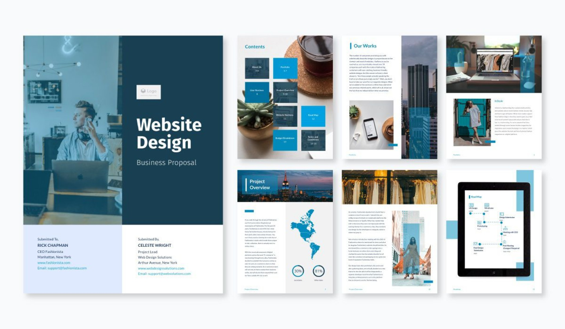 002 Best Web Design Proposal Template Free Image  Freelance Download1920