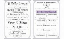 002 Best Wedding Program Template Free Idea  Fan Download Elegant