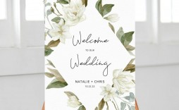 002 Best Wedding Welcome Sign Template Free Inspiration