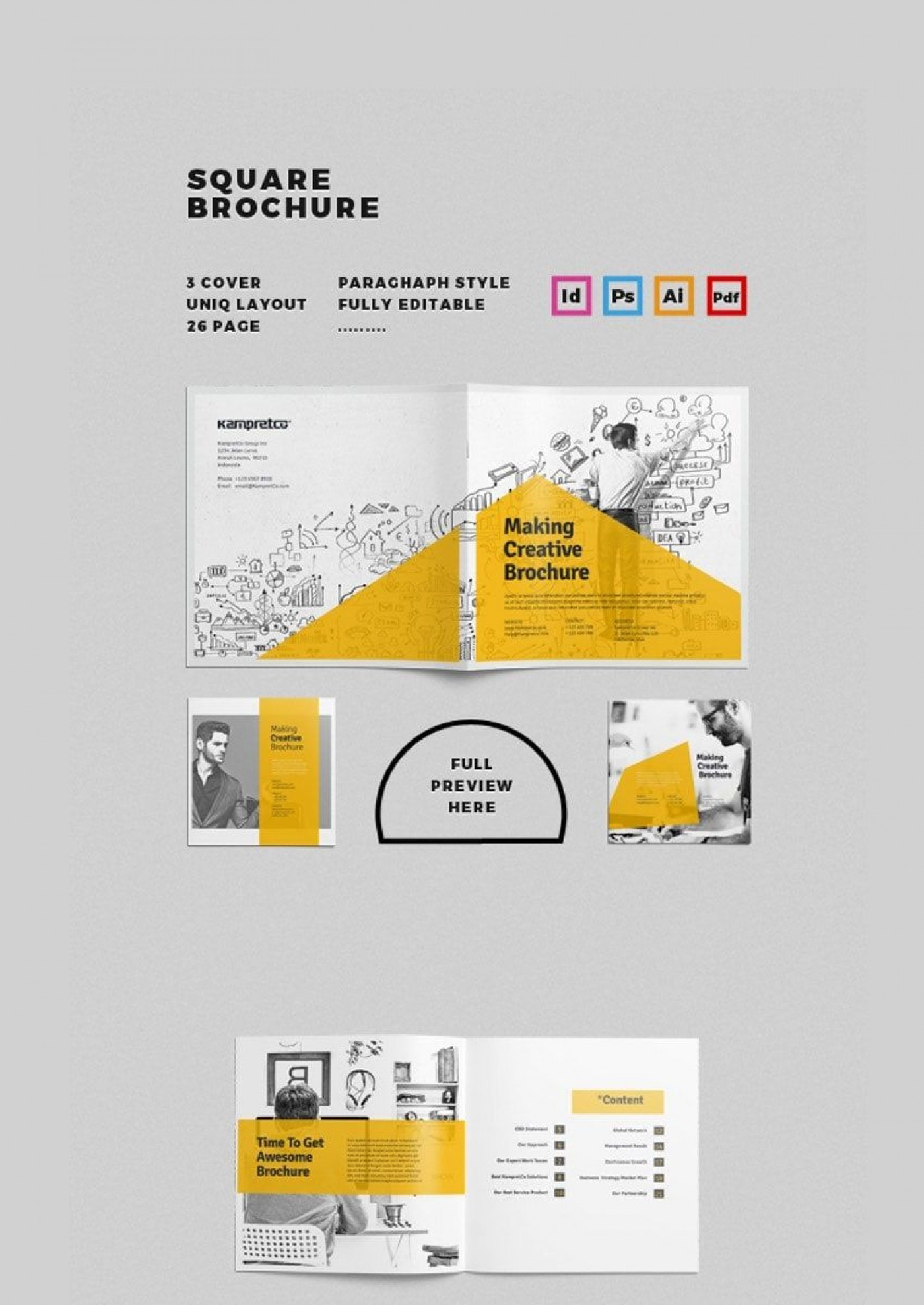 002 Breathtaking Adobe Photoshop Brochure Template Free Download Picture 1400